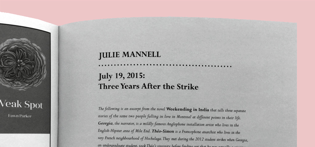 from CAROUSEL 40: Julie Mannell's 'July 19, 2015: Three Years After the Strike '